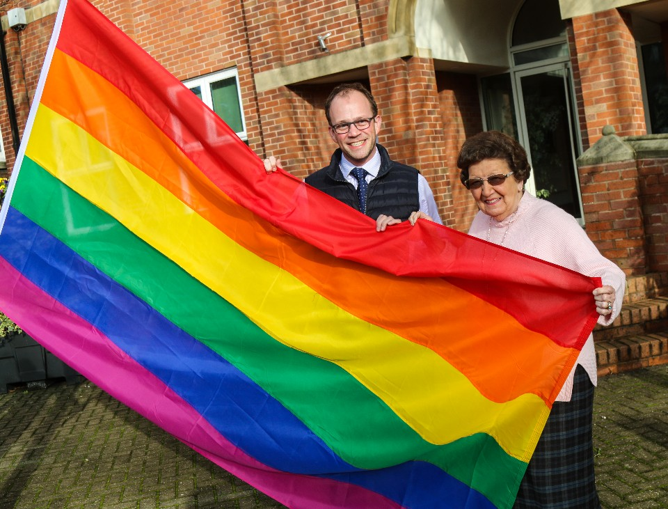 Cllr Lee and Cllr Smith LGBT
