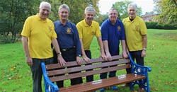 Rotary Club of Grantham donate benches to Wyndham Park's new paddling pool