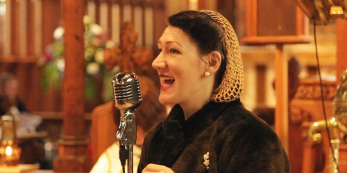 Tribute singer Lizzy Rushby