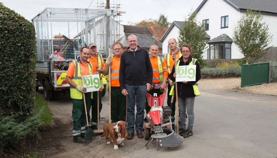 Cllr Dr Peter Moseley joined The Big Clean team in Rippingale last week