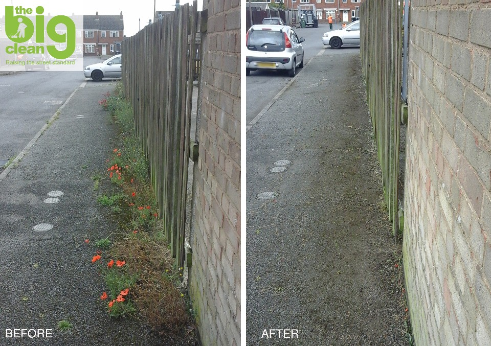 Arran Road in Stamford before and after The Big Clean