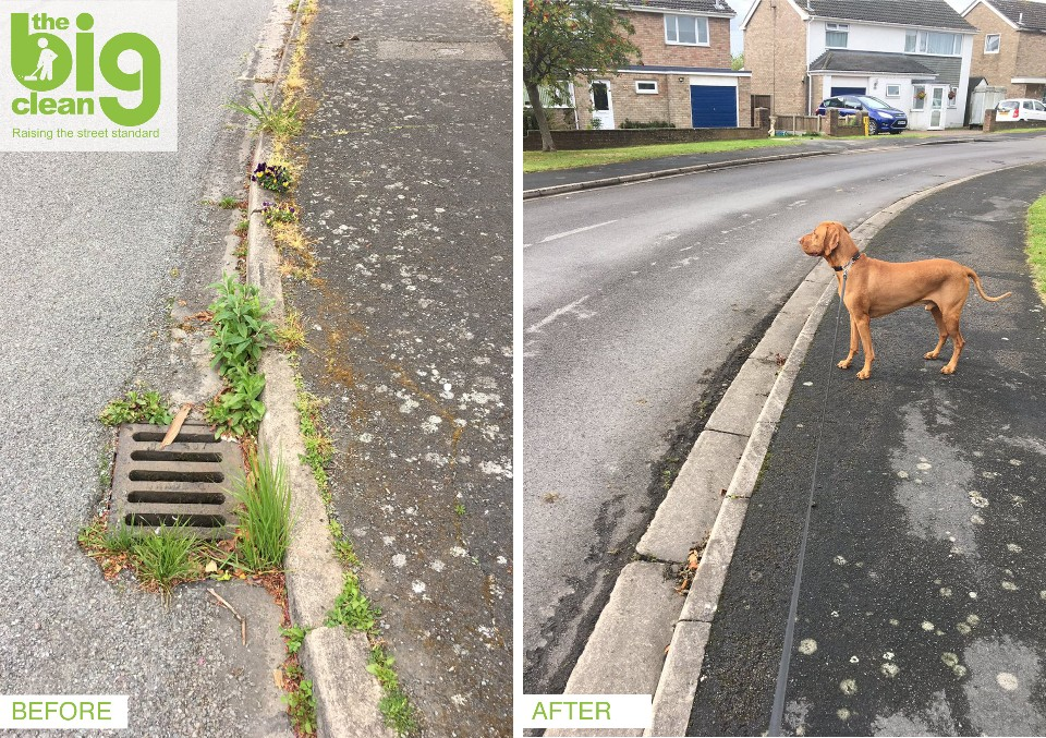 Resident Darren Martin submitted images of his street in Bourne before and after The Big Clean