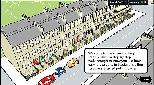 Polling station animated walkthrough This link opens in a new browser window