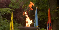 International flame for WWll freedom commemoration