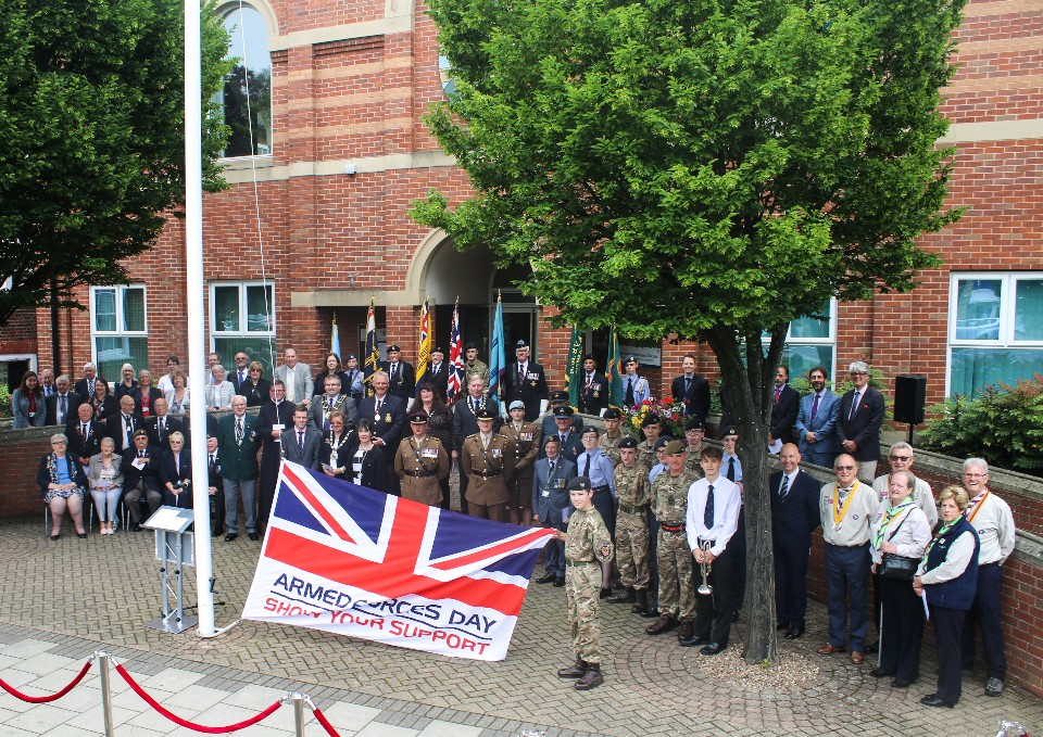 Armed forces day flag raising 2019